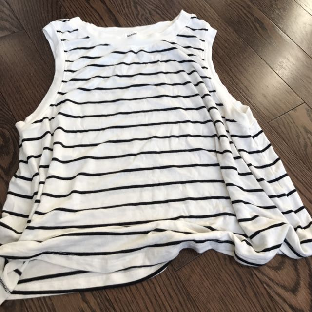 White Striped Tank Top