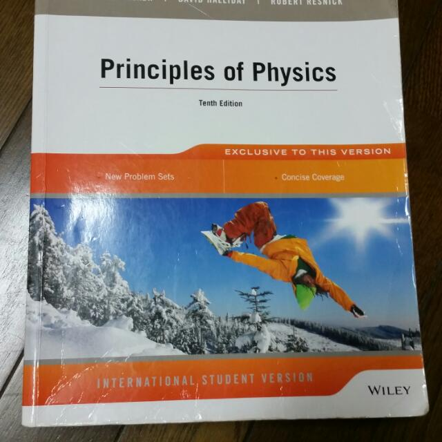 Wiley:  Principles of Physics 10th 物理原文書