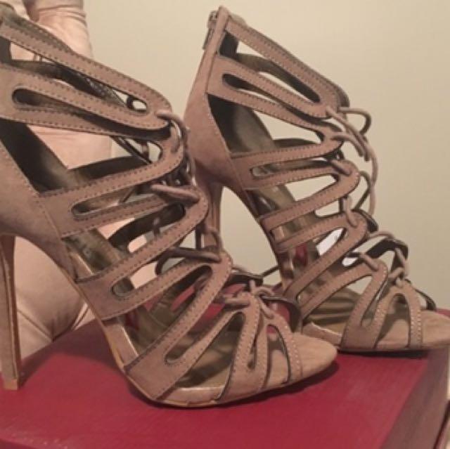 Women's Strappy Olive Heels