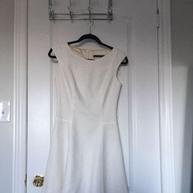 Zara White A-Line Dress