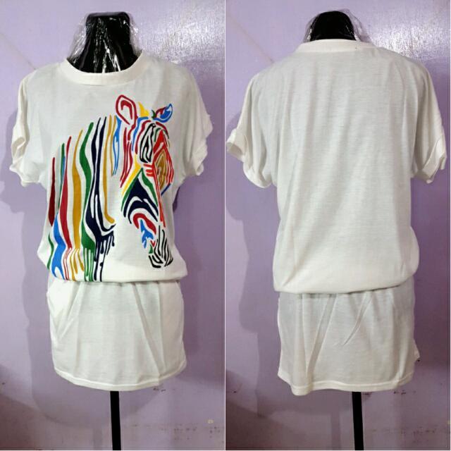 Zebra Colorplay Smocked Dress