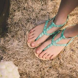 Tonic Studded Sandals in Mint US6