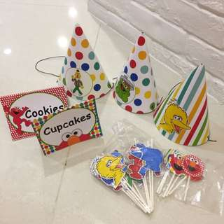 Sesame Party Decoration / Hat / Cupcake / Cookies