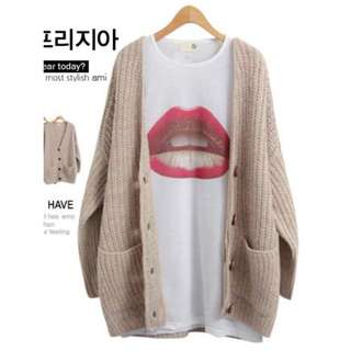 Knit Cardigan - Creme (New) Made in Korea