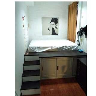 tempat tidur unik panggung simple apartment