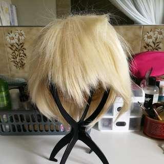 Ice Blonde Bob Halloween Wig (J)
