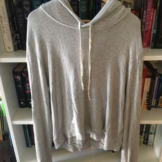 Brandy Melville Light Grey Hoodie Sweater