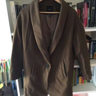 Forever 21 Brown Coat Jacket
