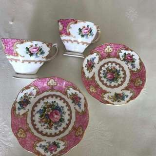 2 pieces Royal Albert Cup and Saucer