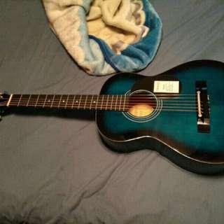 Blue Denver Guitar