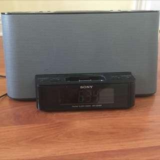 Sony Plug In Speaker / Alarm Clock / Radio