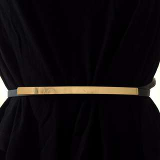 Navy Belt With Gold Bar