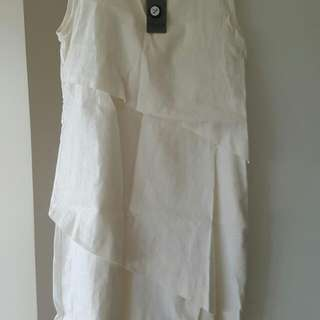 Tyler Dress Linen Off White Dress
