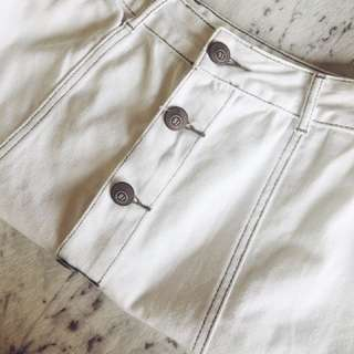 White Classic A-line Skirt Size 8