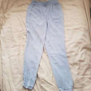 Missguided Baby Blue High Waisted Jogger Pants