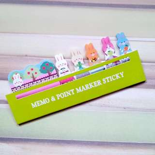 Cute Animal Stickers Post-It Bookmark Marker Memo Index Tab Sticky Notes