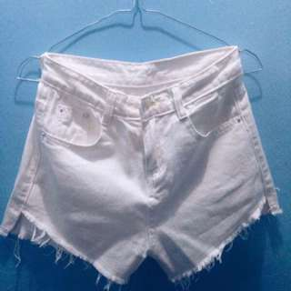 White Denim Hotpants