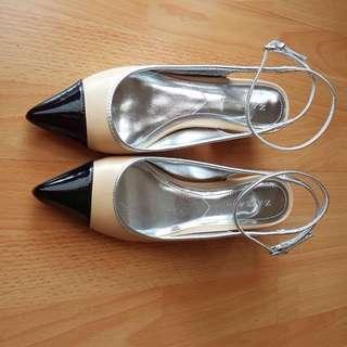 Zara Shoes 2 Tone ankle Strap (ori)
