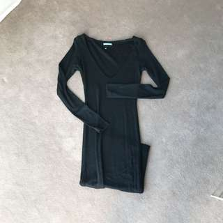 Kookai Xs Black Knit Dress