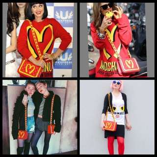 Moschino Quirky McDonalds Leather Red Bag