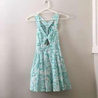 Blue/Green Patterned Dress