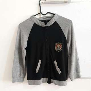 Cache Cache Varsity Style Cardigan With Patch