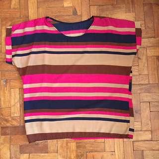 Pink Stripes Blouse