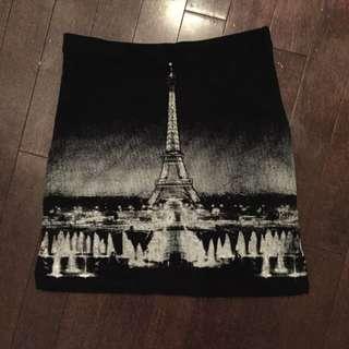 Eiffel Tower Skirt Stretchy Small