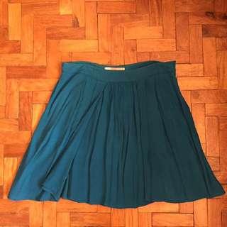 Blue Green Flowy Skirt