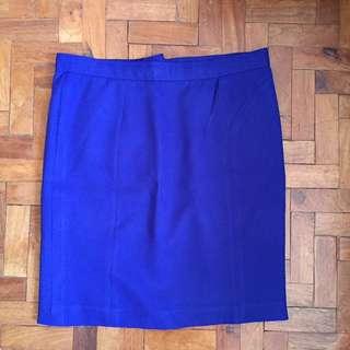 Blue Office Skirt