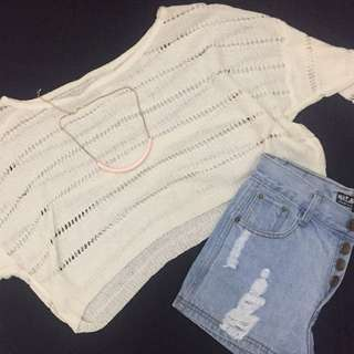 Knitted Cropped Longsleeves