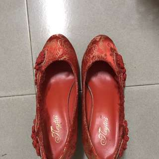 Bridal Traditional Red Shoe