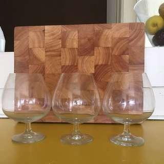 3xFishbowl Cocktail Glasses