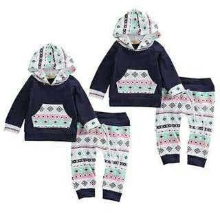 Blue Hoody Girl Outfit
