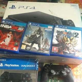 Ps4 500gb Slim 3 Games 2 Controller Hndi Nagagamit Busy Sa Work Galing Saudi Pa Yan...09089302730 Call Or Txt