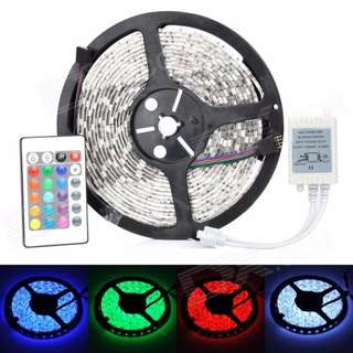 Flexible RGB LED Stripe with 24 Key Remote Control (5 Meter) 20 Color