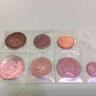 英鎊共$1.88舊硬幣