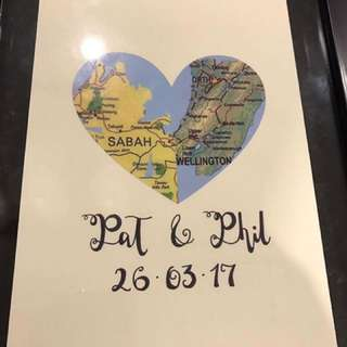 Personalised Map Art You & I