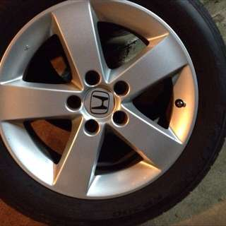 "Honda Civic Stock Rims 16"" W Tyres"