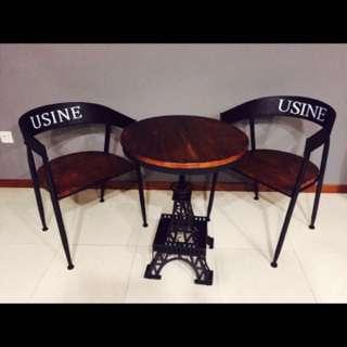 Industrial Table N Chair Set