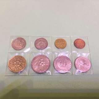 新加坡新舊硬幣共$2.16