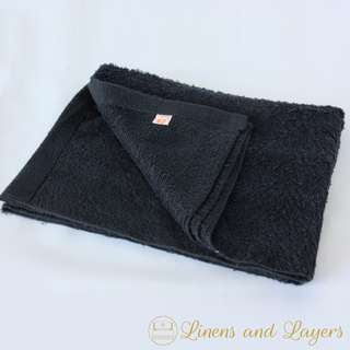 Black Bath Towel - Olympic - M2