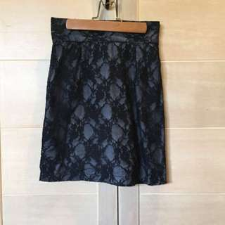 Rouge Black Lace Skirt