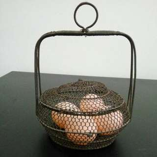 Antique 50's Eggs Basket