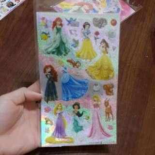 迪士尼公主貼紙跟貼紙簿