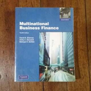 Multinational Business Finance 12th Ed. By Eiteman, Stonehill, Moffett
