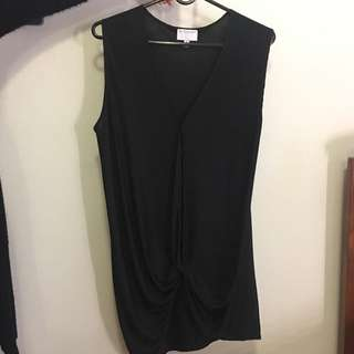 Witchery Black Drape Top