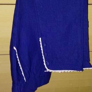 Blue Lazed Pants