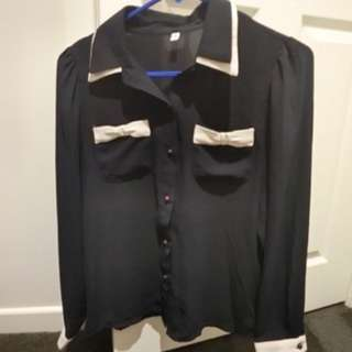Dark blue formal shirt