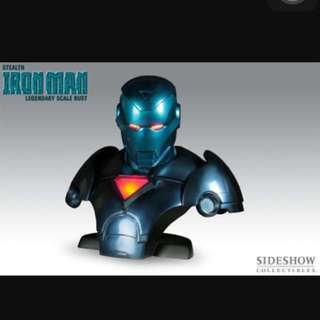 Sideshow Stealth Ironman Iron Man Legendary Scale Bust